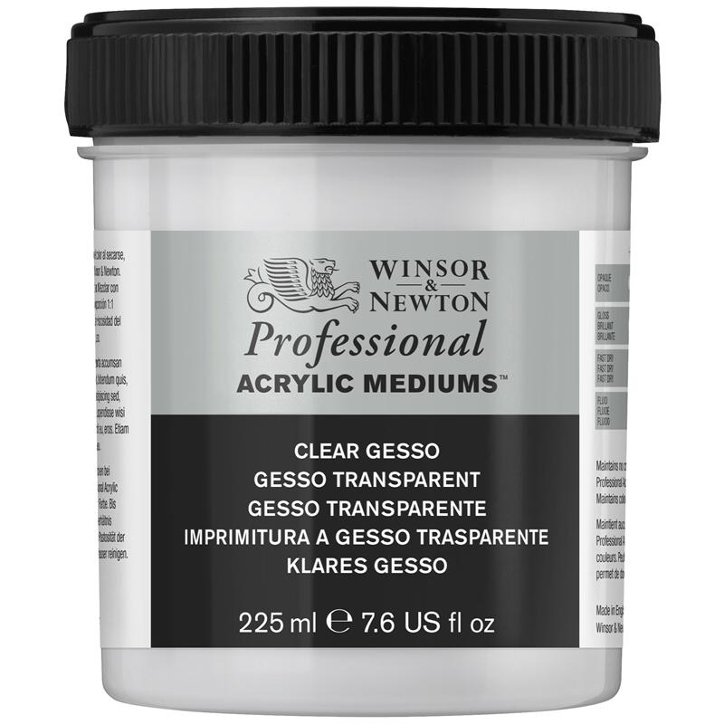 Winsor Newton Clear Gesso 225ml JAr